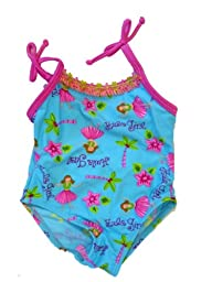 Circo Infant Girls 1 Piece Blue Hula Girl Swim Suit Bathing & Swimming