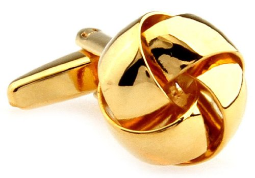 Knot Smooth Bands Cufflinks with a Presentation Gift Box