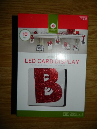 Glitter B Merry Led Christmas Card Display From Target - Battery Operated