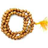 Divya Shakti Natural Sandalwood / Chandan Mala Meditation Prayer Jaap Mala (108+1) 7 Mm