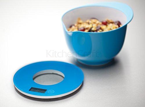 Kitchen Craft Balance de cuisine électronique ronde Bleu
