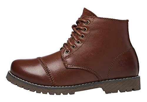 Guciheaven Winter New Style British Leather Martin Boots(7 B(M)Us, Coffee)
