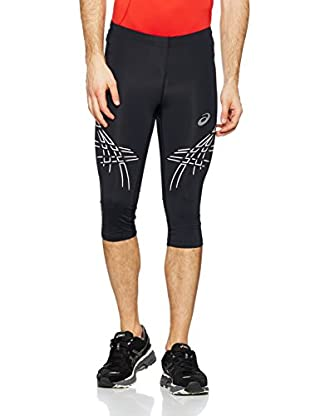 Asics Pantalón Running Stripe (Negro / Plata)
