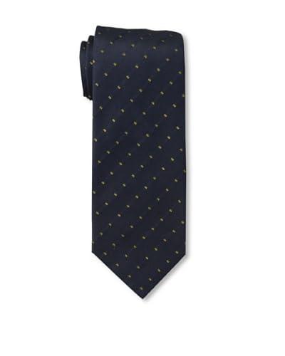 Corneliani Men's Dot Tie, Navy/Green As You See