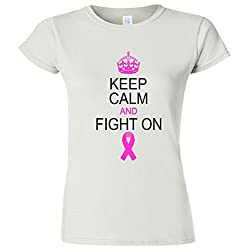 Keep Calm And Fight On Support Women's Junior T-Shirt