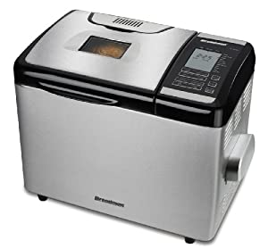 Breadman TR2700 Stainless-Steel Programmable Convection Bread Machine by Breadman