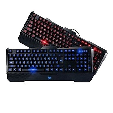 Mch-Precise Professional Led Gaming Wired Usb Keyboard , Red