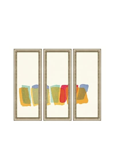 Color Study Triptych Framed Giclée Print As You See