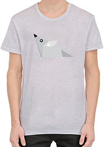 Origami Mouse T-Shirt per Uomini Medium