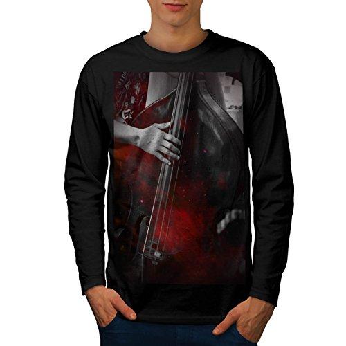 Musica Strumento Basso Uomo Nuovo Nero M T-Shirt Manica Lunga | Wellcoda