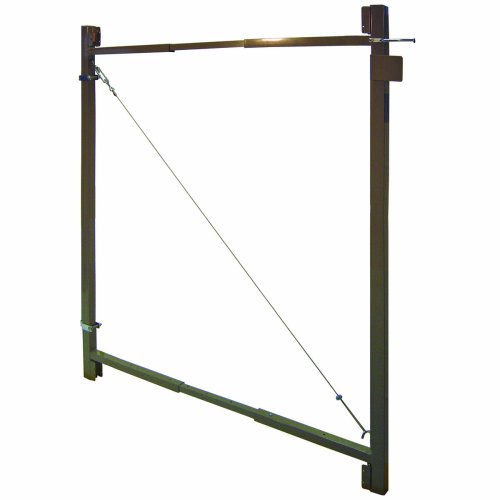 Adjust-A-Gate AG 36 2-Rail Contractor Quality Gate Kit, 36-Inch to 60-Inch by 45-Inch Height