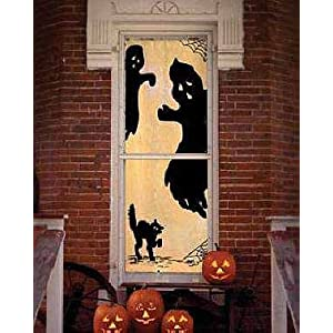 Branson Lace - Halloween-Themed Lace Curtains mascarade as witches