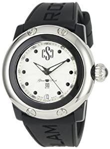 Glam Rock Women's GR64002 Miami Beach Silver Dial Black Silicone Watch