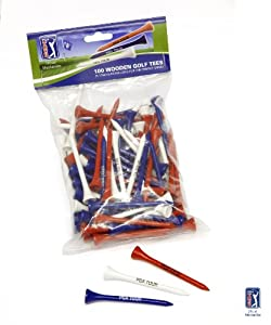 PGA Tour 100 Golf Tee - Red/White/Blue