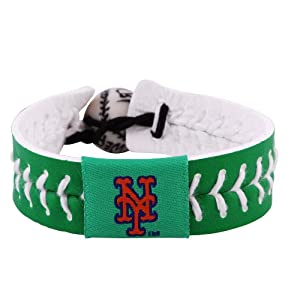 MLB New York Mets St. Patricks Day Baseball Bracelet by GameWear