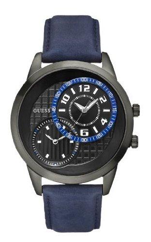 41bHVfHg%2BOL Guess Herren Armbanduhr XL Analog Leder W11174G2 für 39,07€