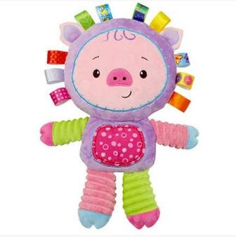 Pig Baby Toy Comforting doll with BB rattles Toys (30x20 CM)