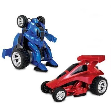 Transforming Robot to Race Car Remote Control - Assorted Colors - 1