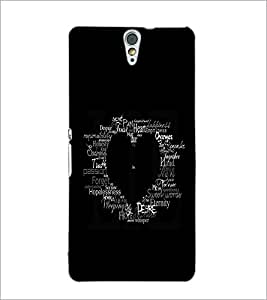 PrintDhaba Typographic Heart D-2335 Back Case Cover for SONY XPERIA C5 ULTRA (Multi-Coloured)