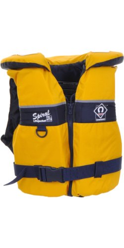 Crewsaver Junior Spiral 100n Life Jacket in Yellow/Navy 2820 Large Child & Junior Size-- - Large Child