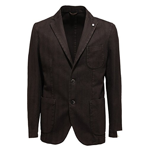 7406L giacca uomo marrone L.B.M. 1911 giacche jackets coats men [50 R]