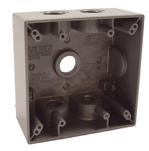 Old Work 2 Gang Carlon BH234R Outlet Box 3-7//8-Inch Length by 2-3//8-Inch Widt