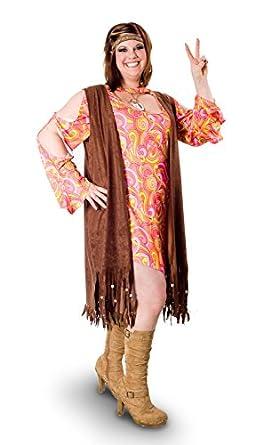 Sunnywood Women's Plus-Size Lava Diva Funky Swirl Hippie Costume, Multi, 3X-Large