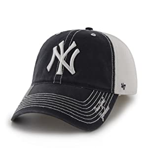 New York Yankees 47 Brand Navy White Ripley Mesh Flexfit Hat Cap by