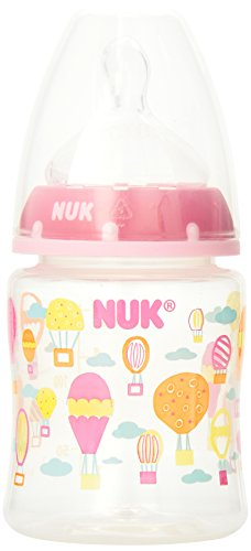 NUK 3 Pack Orthodontic Silicone BPA Free Nipple Bottle, 10 Ounce, Colors May Vary (Discontinued by Manufacturer)