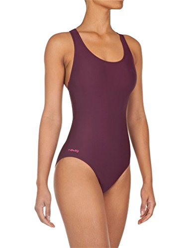 DECATHLON Shaping Body One-Piece Swimsuit(Wine Red,XL) image