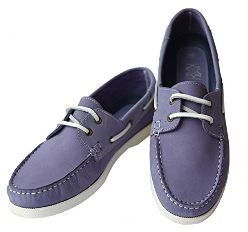 Beverly Originals Scarpe da barca da uomo Men's Casual Skipper, Couleur:pourpre;Taille:45