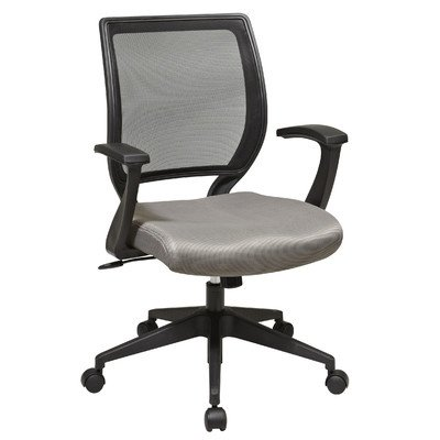Screen Back Mesh Seat Task Chair with Fixed Designer Arms Finish: Gray