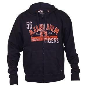 Auburn Tigers Vintage Look Full Zip Hoodie by J. America
