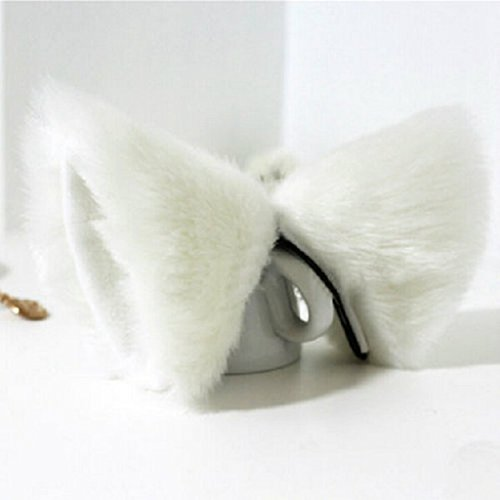 [springcos Women Cat Ears Hairpin Cosplay Accessories White] (White Cat Costume For Women)