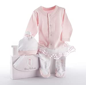 Baby Aspen Big Dreamzzz Baby Ballerina Layette Set with Gift Box, Pink
