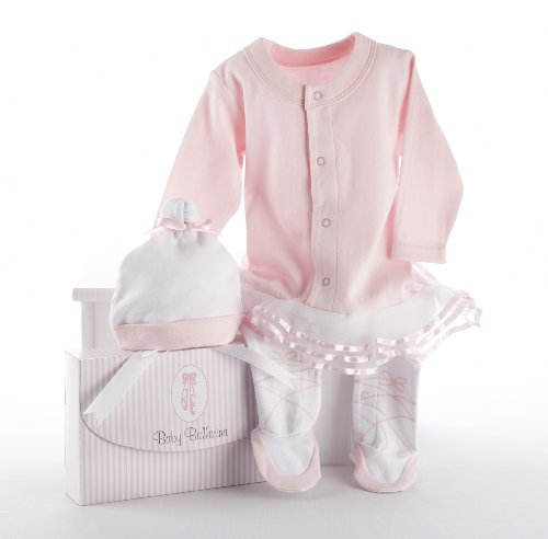 Baby Aspen, Baby Ballerina Two-Piece Layette Set in Gift Box, 0-6 Months