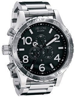 Nixon Men's A083000-00 Silver Stainless-Steel Analog Quartz Watch with Silver Dial