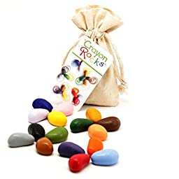 Crayon Rocks: Soy Wax Crayons 16 Summer Colors - Cotton Muslin Bag