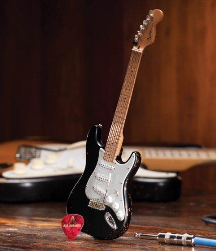 Axe Heaven Fender Strat Black Vintage Distressed Miniature Guitar Replica