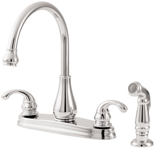 Cheap Review Deals Price Pfister 036 4dcc Treviso Double Handle Kitchen Faucet With Side Spray Chrome Where Best Special