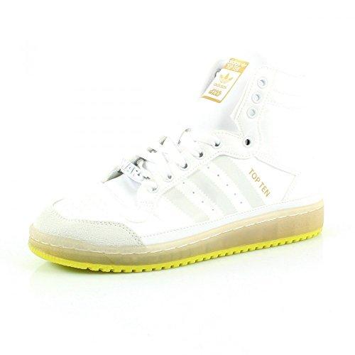 Adidas Top Ten Hi-Yoda-Scarpe da ginnastica per bambino, colore: bianco/verde, Bianco (bianco), 38 2/3 EU