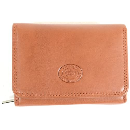 Ladies Soft Nappa Leather Purse with Multiple Credit Card Slots and Pockets (Black, Brown, Tan, Red)