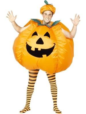Selbstaufblasendes Kürbes Kostüm für Halloween oder Fasching bei aufblasbar.de