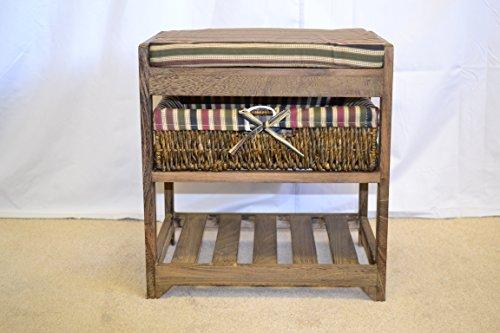 storage-bench-wicker-basket-draws-cushion-seat-ottoman-shoe-shelf-footstool