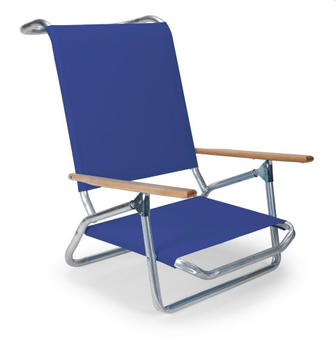 Telescope Casual Light N' Easy Low Boy Chair, Aluminum Frame With Atlantis Blue Fabric