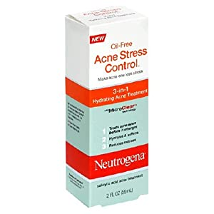 Neutrogena Acne Stress Control, 3-in-1 Hydrating Acne Treatment, 2 Ounce