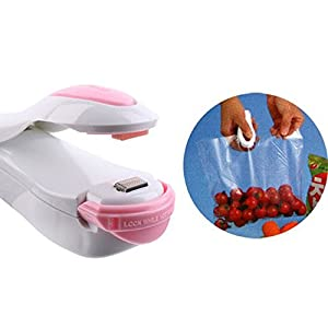 Heat Sealer Capper Family Mini Sealing Machine Food Saver for Plastic Bags Package Creates Airtight Containers Kitchen Home Cabinet Accessory Make Food Fresh - White