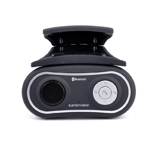 Giveumore Bluetooth Handsfree Car Kit Speaker For Mobile Phones Dual Connection Black