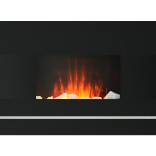 Electric Wall Mount Fireplace W/Remote 650/1350 Watt--Digital Remote Control 100% Efficient