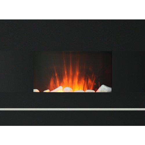 Space Heaters Electric Wall Mount Fireplace W Remote 650 1350 Watt Digital Remote Control 100